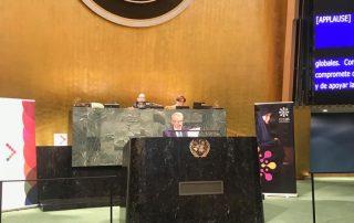 New York'ta bulunan Türkiye'nin Birleşmiş Milletler Nezdindeki Daimi Temsilciliğinde, 15 Temmuz Demokrasi ve Milli Birlik Günü etkinliği düzenlendi. Cumhurbaşkanlığı Strateji ve Bütçe Başkanı Naci Ağbal, etkinlikte konuşma yaptı.
