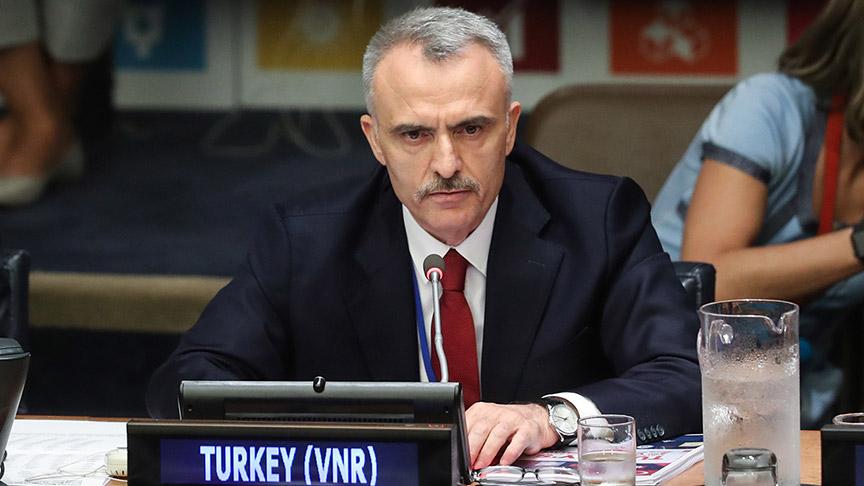 BM'de Türkiye'nin İkinci Gönüllü Ulusal Gözden Geçirme Raporunun sunumunu Naci Ağba yaptı